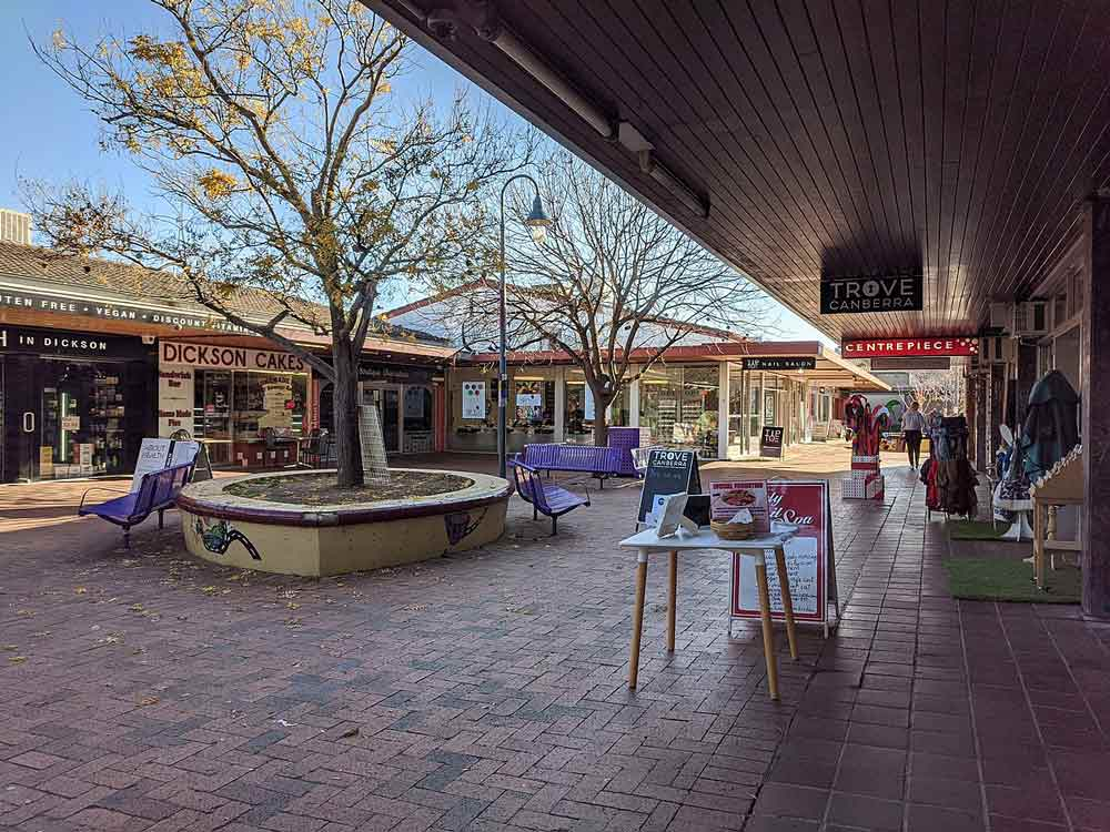 Small businesses & Shops in Dickson, Canberra, ACT.